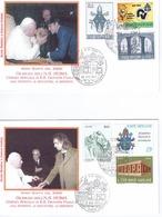 GIUBILEO 2000 GIOCATORI DELLA ROMA DAL PAPA - Storia Postale