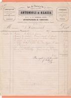FACTURE ANTONIOLI & ALASIA ENTREPRENEURS DE FUMISTERIE RUE CHARIOT D'OR 2 BEAUVAIS - 1800 – 1899
