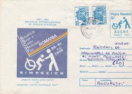 BV7002ERROR,ASSOCIATION HANDICAP SYMPOSIUM,1991 RARE COVER STATIONERY,ROMANIA. - Errors, Freaks & Oddities (EFO)