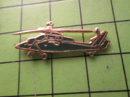 810h Pin's Pins / Beau Et Rare / THEME AVION AVIATION : HELICOPTERE D'ATTAQUE GENRE TIGRE - Airplanes
