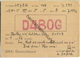 QSL - QTH - D4BOG - 1931 - Amateurfunk
