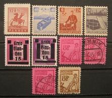 Lokalausgaben Mix 1945 - 1946 Alle Erhaltungen!    (M12) - Alemania