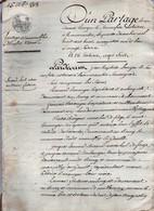 Acte Notarial Notaire Romorantin Partage D'immeubles Baranger Chaumont Sur Tharonne 16 P.1808 - Manoscritti
