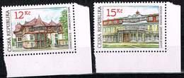 Tschechien 2007, Michel # 512 - 513  Architektur Marken Ohne Gummierung - Tschechische Republik