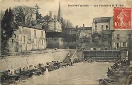 - Dpts Dv -ref-AE287- Maine Et Loire - Doué La Fontaine - Fontaines  (1767-68 )- Lavoir - Lavoirs - Laveuse - Laveuses - - Doue La Fontaine