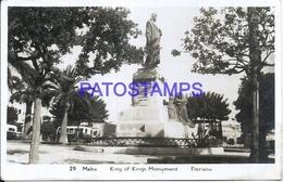 103200 MALTA FLORIANA KING OF KINGS MONUMENT POSTAL POSTCARD - Malta