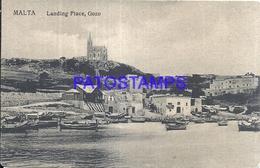 103202 MALTA GOZO LANDING PLACE VIEW PARTIAL POSTAL POSTCARD - Malta