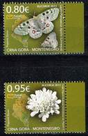 Montenegro 2013, Michel # 326 - 327 ** Apollo (Parnassius Apollo)/ Scabiosa Odvoleuca Var - Tschechische Republik