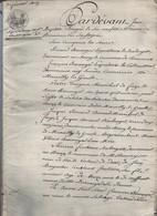 Acte Notarial Notaire Romorantin Liquidation Mobilière Baranger Chaumont Sur Tharonne 31 P.1809 - Manuscripts