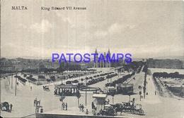 103203 MALTA KING EDWARD VII AVENUE & TRAMWAY POSTAL POSTCARD - Malta