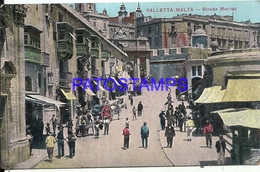 103204 MALTA VALLETTA ENTRANCE MARINE STREET POSTAL POSTCARD - Malta