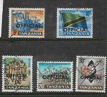 Tanzania, 1965, 5c - 30c Opt OFFICIAL, Used - Tanzania (1964-...)