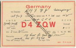 QSL - QTH - D4ZQW - 1934 - Amateurfunk