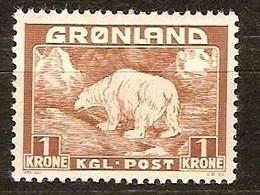 Groenland Greenland  1938 1946 Yvertnr 9 *** MNH Cote  22,40 Euro Faune - Groenland