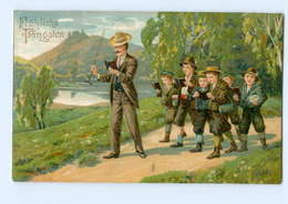 Y8551/ Pfingsten Kinder Singen 1913 Litho Prägedruck AK - Pentecôte