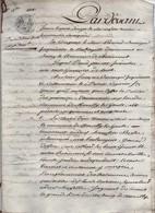 Acte Notarial Notaire Romorantin Vente De Biens Baranger Chaumont Sur Tharonne 11 P.1808 - Manuscripts