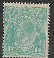 Australi, GVR, Heads, 1928, 1'4, Perf 13.5 X 12.5, MH *, Gum Thin - 1913-36 George V : Têtes