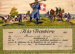 ATTESTATION DE MOBILISATION HELVETE POUR L ANNEE 1914 /1915 DU SAPEUR: A.Fontannaz - 1914-18