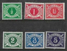 Ireland / Eire, 1940, Postage Dues, 1/2d - 5d, MNH ** - 1937-1949 Éire