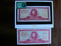 Cuba Carte Maximum + Billet De Banque Che Guevara Maxicard + Bank Note - Famous People