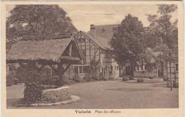 VIELSALM-CASERNE-MESS DES OFFICIERS-MILITARIA-EDIT.SEVRIN-CRUCIFIX-CARTE ENVOYEE-1938-VOYEZ LES 2 SCANS-TRES RARE ! - Vielsalm
