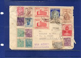 ##(DAN1811)-Brazil 1951- Air Mail Registered Cover To Italy - Brazil