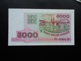 BIÉLORUSSIE : 5000 RUBLEI   1998   P 17     SPL+ - Belarus