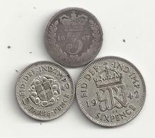 Grande Bretagne Lot De 3 Monnaies  Argent 5,5 Grs - 1902-1971 : Monete Post-Vittoriane