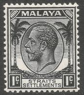 Straits Settlements. 1936-37 KGV. 1c MH SG 260 - Straits Settlements