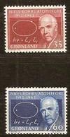 Groenlande Greenland 1963 Yvertn° 53-54 *** MNH Cote 7 Euro Niels Bohr - Groenland