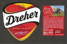 ITALIA - Etichetta Birra Beer Bière DREHER Birra Lager - Valle D'Aosta Mountain Bike - Beer