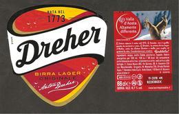 ITALIA - Etichetta Birra Beer Bière DREHER Birra Lager - Valle D'Aosta Stambecchi - Beer