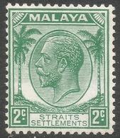 Straits Settlements. 1936-37 KGV. 2c MH SG 261 - Straits Settlements