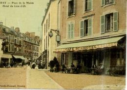 56 AURAY - Place De La Mairie - Hôtel Du Lion D'Or - Belle Carte Animée, Couleur Façon Toilée - Auray