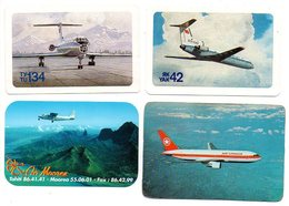 Zakkalender  Calendrier De Poche  4 Stuks/pcs Oa Air Canada Aeroflot  Air Morea Vliegtuig Avion Flugzeug Airplane - Calendars