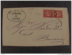 """4541 ITALIA Regno-1875- """"Servizio Di Stato"""" C. 0,20 AREZZO>BUCINE (descrizione) - Servizi"""