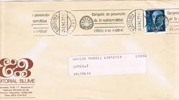 30451. Carta BARCELONA 1977. Rodillo Prevencion Subnormalidad. Handicap. Deficiencia - 1931-Hoy: 2ª República - ... Juan Carlos I