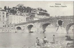 Verona -  Ponte Pietra E Castello - Lavandaia - 1910s - Verona