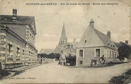 - Dpts Dv -ref-AE272- Loir Et Cher - Savigny Sur Braye - Route De Bessé Sur Braye - Ecole Des Garçons - Ecoles - - France
