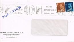 30452. Carta BARCELONA 1982. Rodillo Expomovil 82. Salon Automovil - 1931-Hoy: 2ª República - ... Juan Carlos I