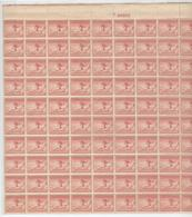 USA Complete Unfolded Sheet With Nr. F 20823 Left And Under Imperforated Mint Without Hinge - Winter 1932: Lake Placid