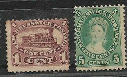 Canada, New Brunswick, 1860, 1c, 5c, Unused, No Postmark, No Gum - Unused Stamps