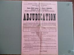 THORE - La - ROCHETTE   ( 41 ) AFFICHE  Chemins VACINAUX  - 1937 - ONZAIN A MONDOUBLEAU  - TIMBRE FISCAUX - Affiches