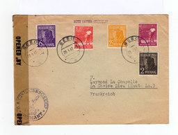 Sur Enveloppe Cinq Timbres Deutsche Post Oblitérés CAD Seeg 1947. Ouverte Par Contrôle Militaire. (852) - Zone Anglo-Américaine