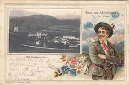 * Litho Prägekarte, Gruss Aus HEILIGENKREUZ IM WIENERWALD (NÖ) - Gel.190?, Sehr Schöne Seltene Karte, Gute Erhaltung - Heiligenkreuz