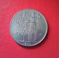 ITALIE 100 LIRE 1955 N° 649 E - 1946-… : République