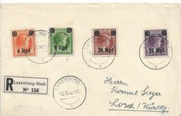 Lux174  / Luxemburg Brief Dt. Besetzung,  Mit Rpf. Währung Aufgedruckt Nach Lorch - Besetzungen