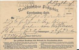 NDP139/  NORDDEUTSCHER POSTBEZIRK / Feldpost 1870 Von Familienangehörigen Aus Paulinenaue An Graf A. Von Waldersee - North German Conf.