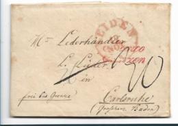 NLC002 / Niederlande, Brief, Leiden 1803 Franco Grenze Nach Carlsruhe, Baden - Niederlande