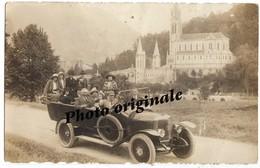 Autos Voitures Automobiles Cars Carte Photo Originale Lourdes - Bus Autocar Car PANHARD Et LEVASSOR - Auto's